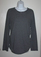 Great Expectations Maternity Long Sleeve crew Neck Stretch Top size M 8-10