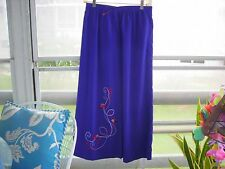 Koret Maxi Skirt Red Hat Society Woman's Purple & Red Side Slits Size Large