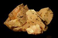 Rhodochrosite sharp crystals in aggregate w/ Pyrite sprinkle Lexington Mine, MT