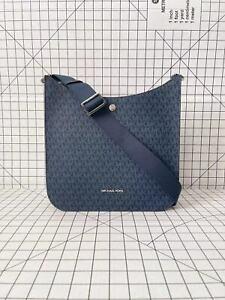 Michael Kors Briley Large Messenger Signature MK Logo Crossbody Bag