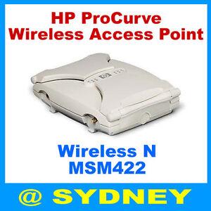 HP J9359A ProCurve Dual-Band N Wireless Access Point MSM422 /w PoE AC Adapter