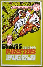 Caguas Celebra Fiestas De Pueblo 1974 Puerto Rico Poster Cartel Serigraph