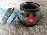 Schramberg SMF Garmisch Majolika Keramik handgemalt Zuckerdose unbenutzt Geschen