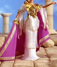 Grecian Greek dress gown white gold fits model muse silkstone Barbie