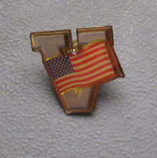 "American Flag with ""V"" for Victory Hat or Lapel Pin - Free US Shipping!"