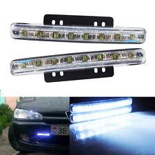2x White 5W LED Front Bumper Driving Fog DRL Daytime Running Light Lamp Bulb Kit