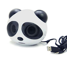 Hot Cute Panda Animal Portable Speaker USB 3.5mm Audio For Phone Computer MP3/4