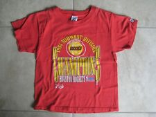 Vintage Logo 7 Athletic HOUSTON ROCKETS 1994 Mid WEst Conf Champs Shirt USED XXS