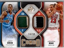 Joakim Noah Jeff Green 2009-10 SP Game Used Combo Materials Jersey Patch #74/99