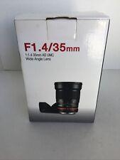 Samyang SY35MAE-N 35mm f/1 MF AS UMC ASP Lens For Nikon