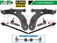 FOR VW GOLF MK4 FRONT WISHBONE ARMS METAL LINKS INNER OUTER RACK TIE ROD ENDS
