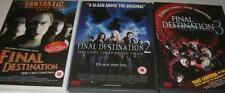 FINAL DESTINATION 1,2,3 (One,Two,Three) James Wong Classic Horror DVD Set *EXC*