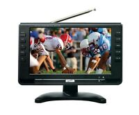 """SuperSonic SC-499 Rechargeable 9"""" LCD TV with Digital TV Tuner/USB/SD IN"""