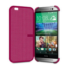 HTC Dot View Case for HTC One M8 Cell Phones Color Fuchsia