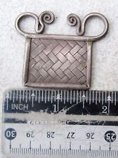 POSITIVE ENERGY! Vintage Hmong Hill Tribe Silver Spirit Lock Amulet