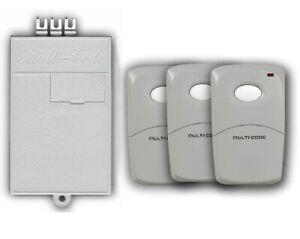 Multicode Gate or Garage Door Opener Receiver and Remote Triple Set