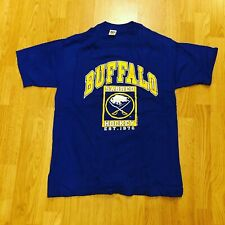 Vintage 1990 Buffalo Sabres T-Shirt Made By Trench In Buffalo New York