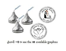 108 Personalized Wedding Hershey Kiss Candy Labels Wrappers Favors