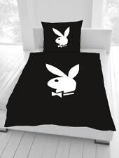 Bettwäsche Playboy Bunny elegance schwarz 135 x 200cm 80 x80 cm Geschenk NEU WOW
