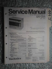 Technics sa-c05 mx mc service manual original repair book stereo boombox radio