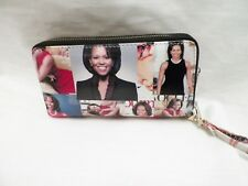 New Michelle Obama Clutch Wristlet Magazine Style Wallet Purse Handbag