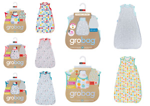 Grobag Baby Girl Boy Cotton Sleeping Bags Tog 0.2 Side Zip 6-18mths 18-36mths