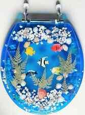 Transparent Fish Aquarium Standard Size Toilet Seat with Cover Acrylic Seats Blu