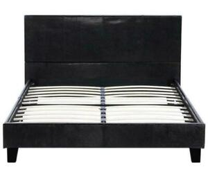 Full Size Metal Bed Frame Headboard Footboard Bedroom Furniture Black