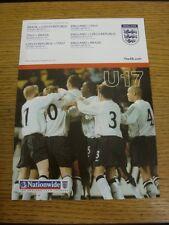 08/07/2002 in Inghilterra: TORNEO Internazionale U17-BRASILE, Repubblica Ceca, essa