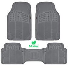 Zero-Odor Rubber Floor Mat Motor Trend Heavy Duty - Gray All Weather Protection