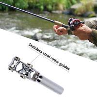 Stainless Steel Fishing Rod Rings Tip Fish Pole Repair Kit Line Guides Eyes