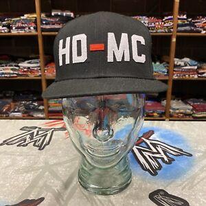 Harley Davidson New Era 59Fifty Wool Blend Fitted Flatbill Hat Size 7 1/4 HD-MC