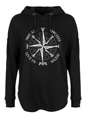 Hoodie Not All Witches Live In Salem Oversized Women's Black