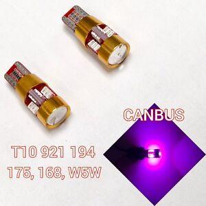 T10 168 194 2825 12961 Purple LED Bulb Front Corner Parking Light B1 For Mini U