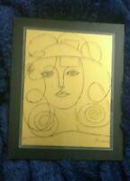 Pablo Picasso Original Etching Over Glass, Signed