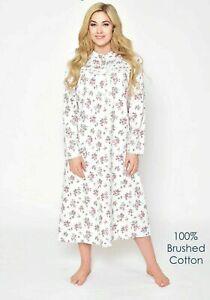 Winter Nightwear Women Nightie Soft Touch Brushed Cotton Gown Maxi L XL 2XL 3XL