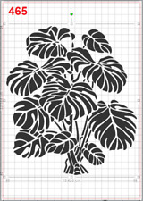 Tropical Leaves Plant no2 Stencil MYLAR A4 sheet strong reusable Art Craft DECO