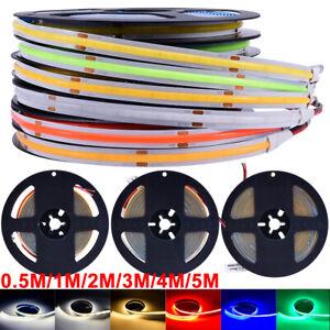 5M LED Streifen Leiste Stripe Licht COB Lichtband Lichterkette Lichtstripe 12V