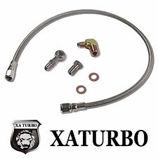 Garrett GT25~GT35 Ball Bearing Turbo Turbocharger Oil Feed Line Kit Deluxe Set