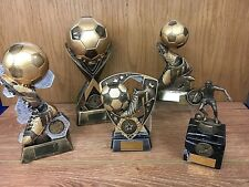 Pack of 5 Best Quality Football Trophies,Top Goalscorer,Player of the year etc.