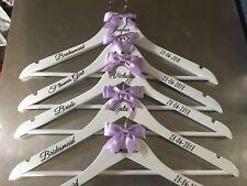 9 x Personalised Wedding Hangers Bridal Prom - Bridesmaid/Wedding Dress/Gift
