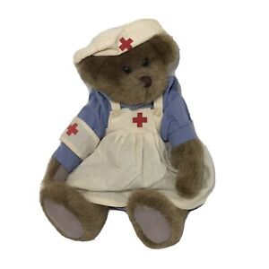 "Ganz H3758 Caren The Nurse 14"" Jointed Plush Teddy Bear Brown 2000"