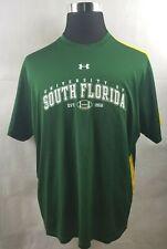 Usf University of South Florida Bulls Workout Under Armour Shirt Mens Xl