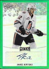 16/17 Leaf Metal Hockey Prismatic Green #JK1 Jake Kryski Autograph #1/3