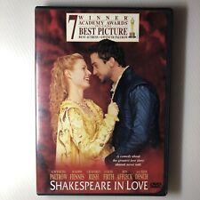 Shakespeare In Love Dvd Widescreen Gwyneth Paltrow Ben Affleck Joseph Fiennes