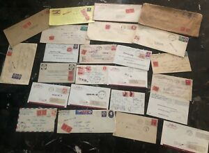 Great 24 USA Postage Due Covers Collection Lot MXE