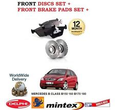 FOR MERCEDES B150 B160 B170 B180 2005-> NEW FRONT BRAKE DISCS SET + PADS KIT
