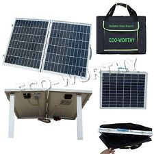 50W 12V Folding Foldable Solar Panel Complete Kit for Car Boat RV Camping