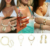 Stylish Sea Shell Women Summer Beach Anklet Necklace Bead Bracelet Jewelry Gift