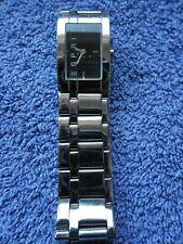 Montre ESPRIT-FEMME-Acier-SwissMade-Watch-Armbanduhr-QUARTZ-Cadran noir-bracelet